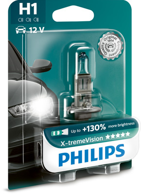 Philips X-tremeVision H1 Glödlampa - 55W, 12 V