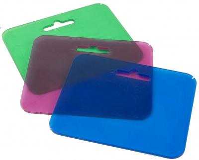 Isskrapa plexi transparant slumpad färg