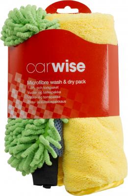 Tvätthandske och microfiberduk