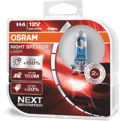 Osram Night Breaker Laser H4 Glödlampa - 55W, 12 V