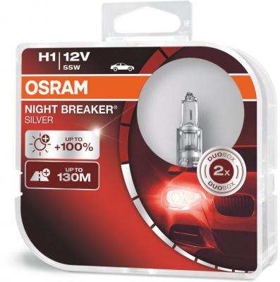 Osram Night Breaker Silver H1 Glödlampa - 55W, 12 V