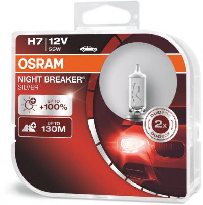 Osram Night Breaker Silver H7 Glödlampa - 55W, 12 V