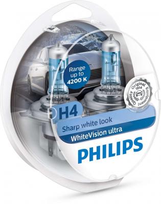 Philips WhiteVision ultra H4 Glödlampa - 60/55W, 12 V