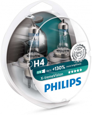 Philips X-tremeVision H4 Glödlampa - 60/55W, 12 V