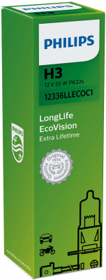 Philips LongLife EcoVision H3 Glödlampa - 55W, 12 V