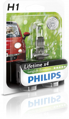 Philips LongLife EcoVision H1 Glödlampa - 55W, 12 V