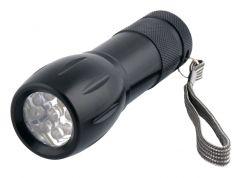 Ficklampa 9 LED 100 mm aluminium