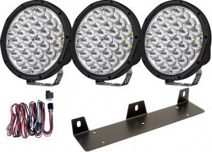 "Extraljuspaket 3x Yukon 9"" LED 120W - 23580 lumen"