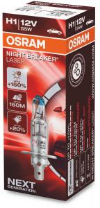 Osram Night Breaker Laser H1 Glödlampa - 55W, 12 V