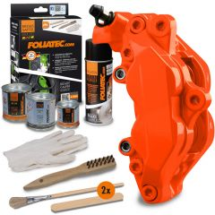 Bromsok lackering kit - Neonorange - 4 komponenter